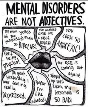 mental disorder are not adjectives