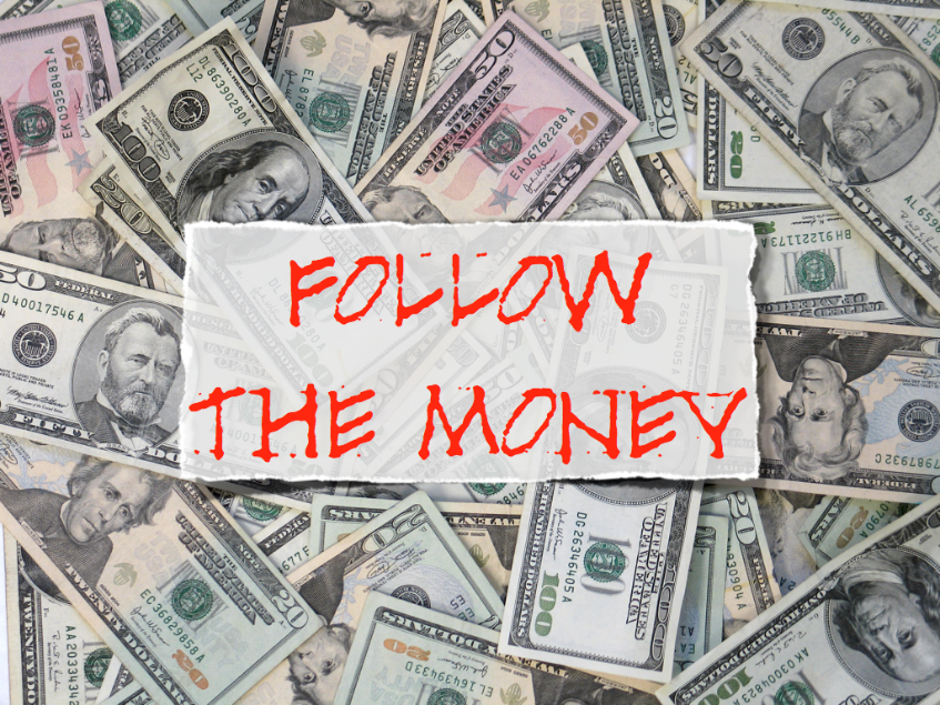 follow the money graphic