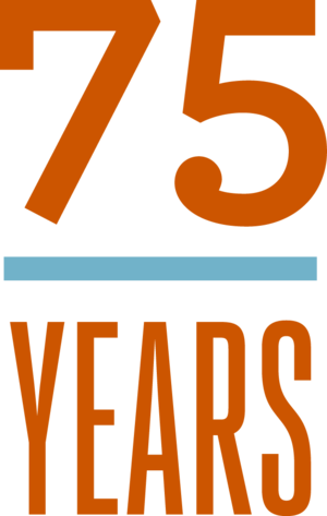 75th Anniversary logo Hogg Foundation