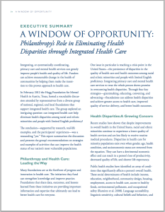 Window of Opportunity executive summary