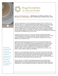 Addressing the Mental Health and Wellness of Individuals with Intellectual Disabilities